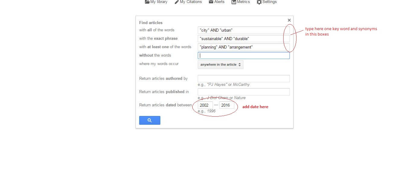 How to find Google Scholar